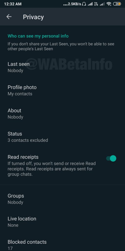 Enable Dark Mode in WhatsApp
