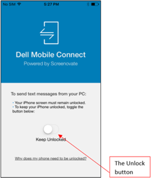 How to use Dell Mobile Connect app with an iPhone or Android