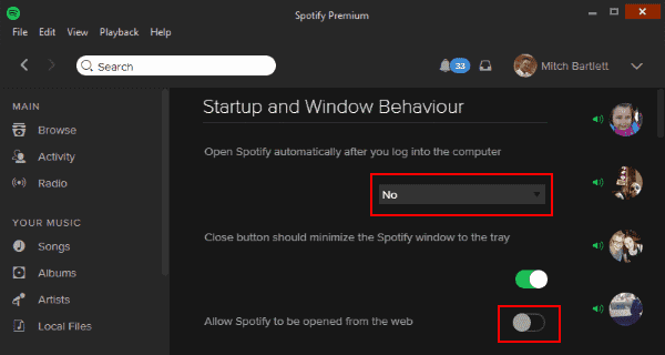 Disable Automatic Startup Spotify