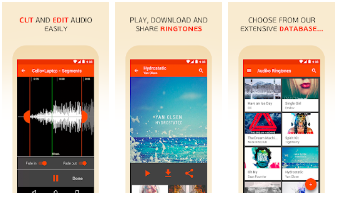 Audiko ringtones notifications and alarm sounds