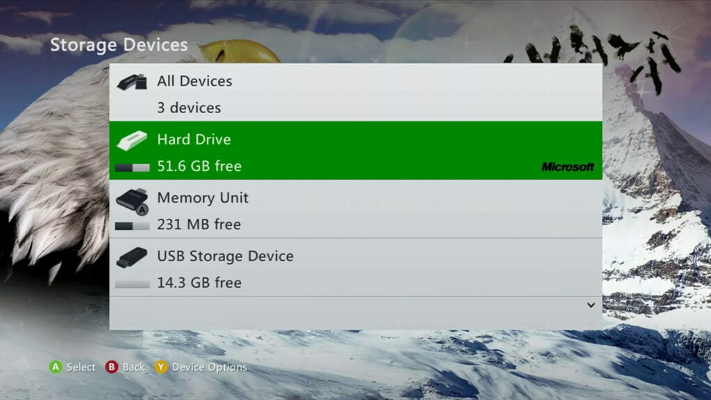 select the Hard Drive