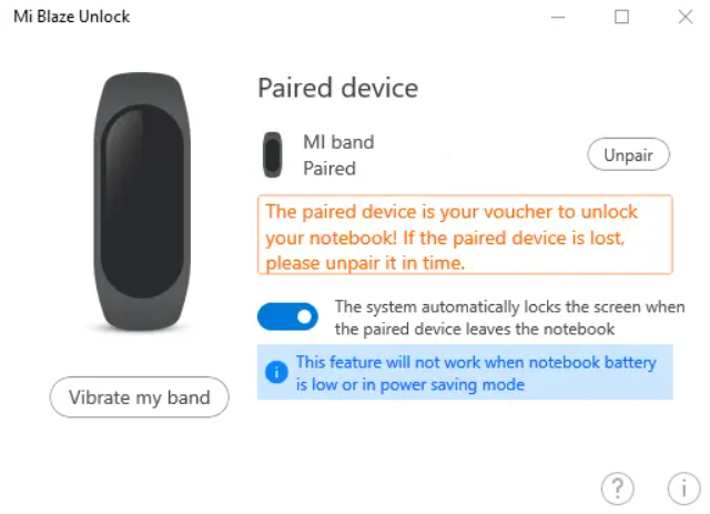 How to Unlock Windows Laptop with Mi Band 6
